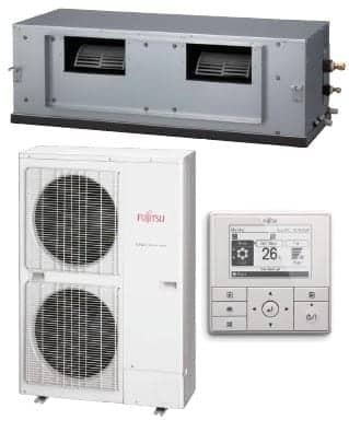 FUJITSU DUCTED 10 5kw 4 zones 6 outlet installed