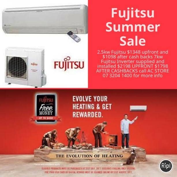 Fujitsu Classic 2 5kw Split System Acstore