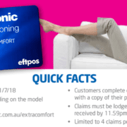 panasonic cash back quick facts