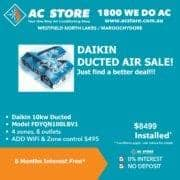 daikin ducted deal 8499
