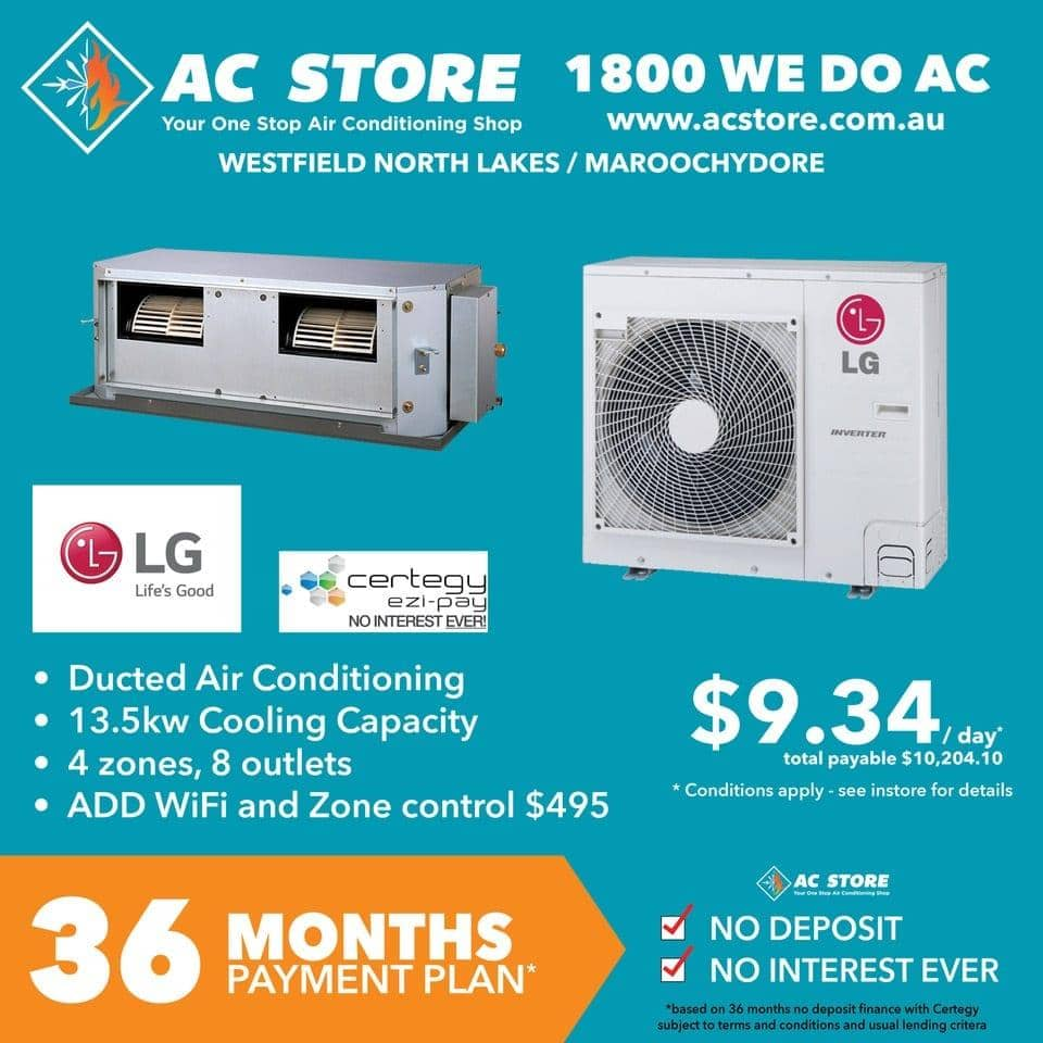 Lg Ducted 36 Months On Certegy Ezi Pay 9 34 Per Day Acstore